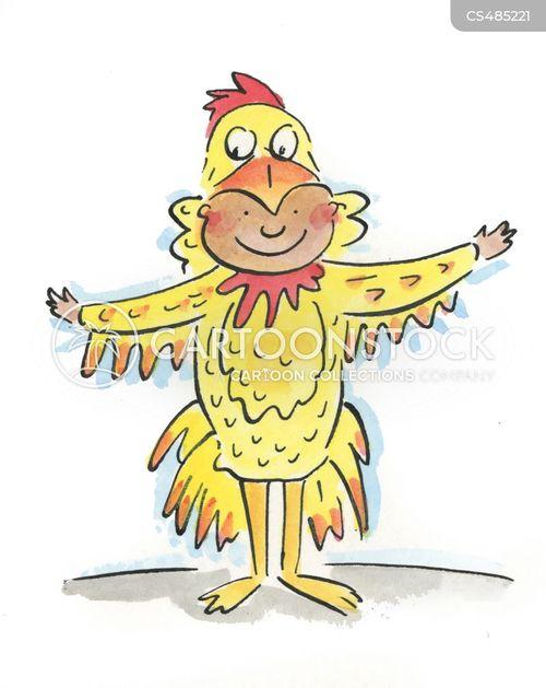 chicken costume cartoon