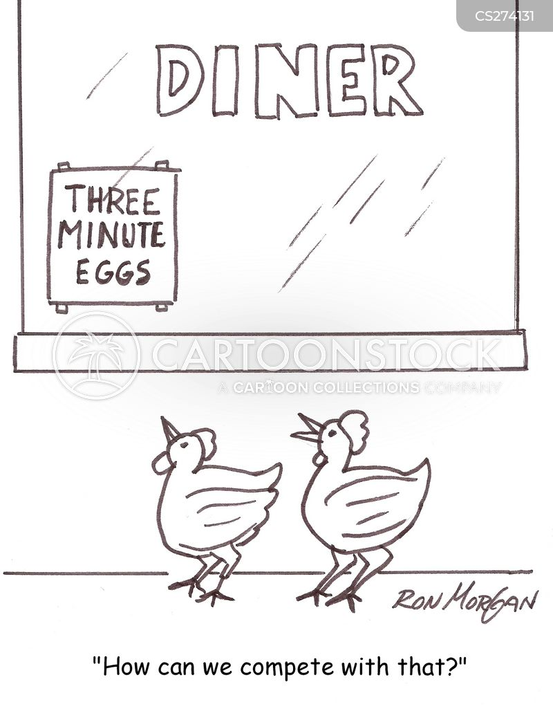 hard-boiled eggs cartoon