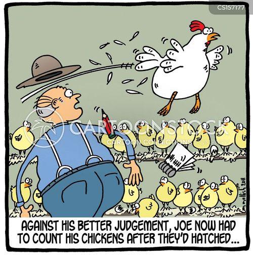 poultry farming cartoon
