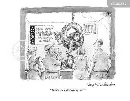 monkey enclosure cartoon