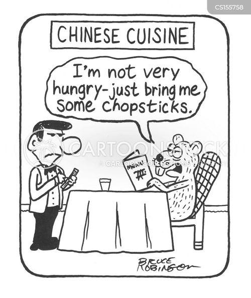 chopstick cartoon