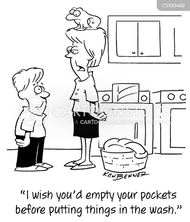 laundry day cartoon