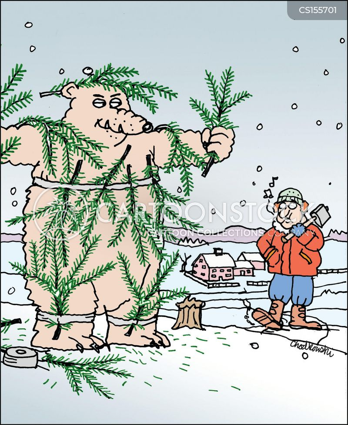 xmas tree cartoon