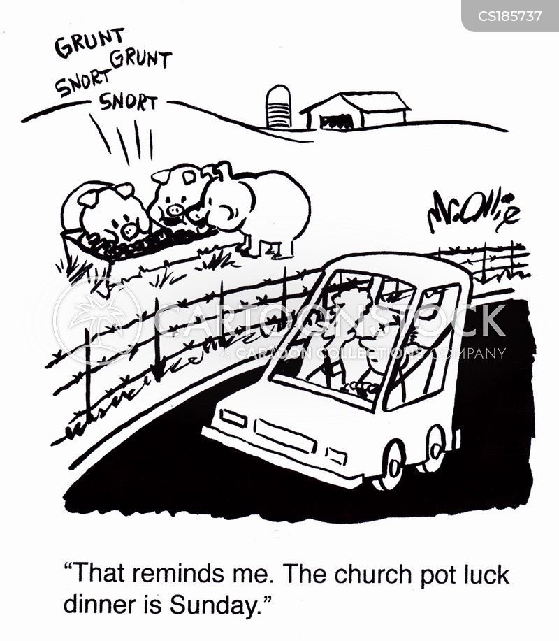 pot luck cartoon