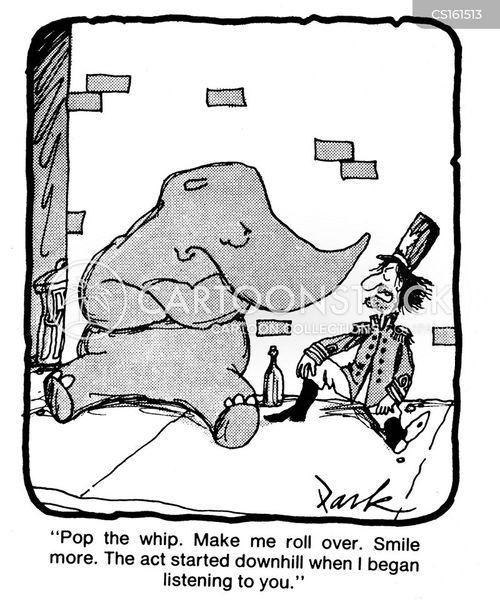 circus performances cartoon
