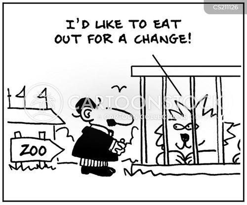 eat in cartoon