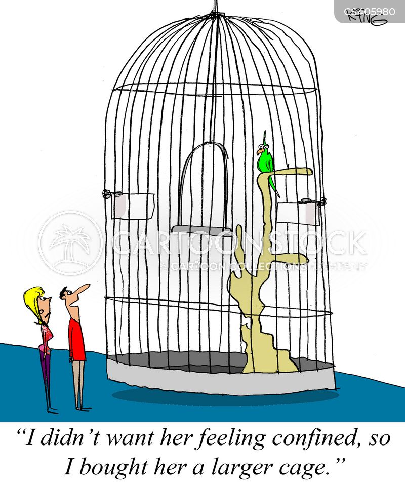 confined spaces cartoon