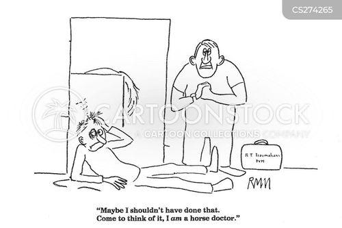horse doctors cartoon