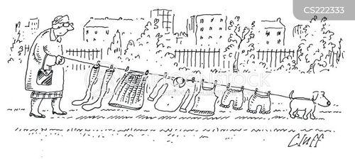 clothes lines cartoon