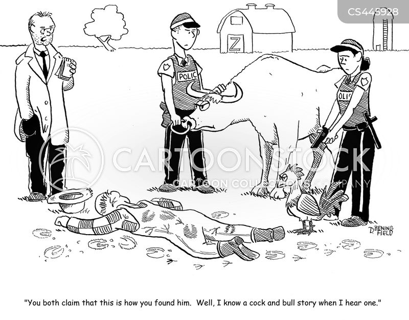 murder investigation cartoon