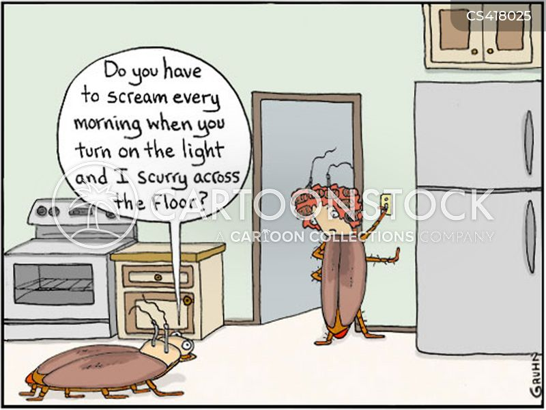 cockroach infestations cartoon