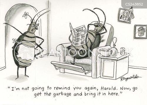 rubbish bag cartoon