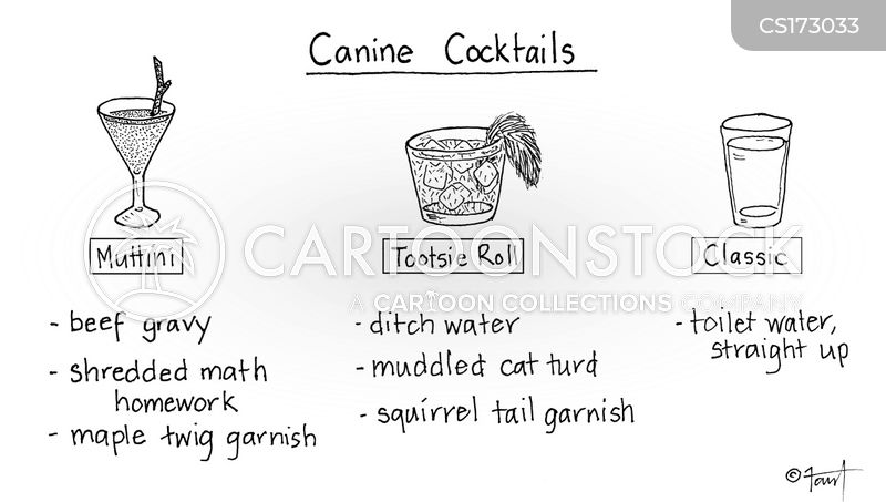 cocktail recipe cartoon
