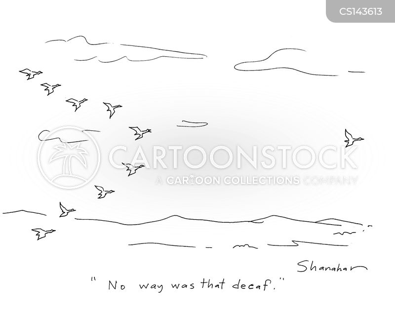 migrating cartoon