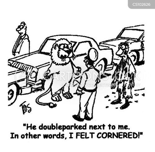 cornered cartoon