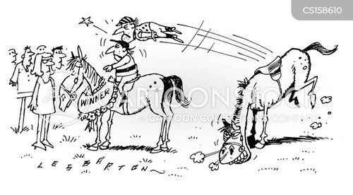horse jumping cartoon