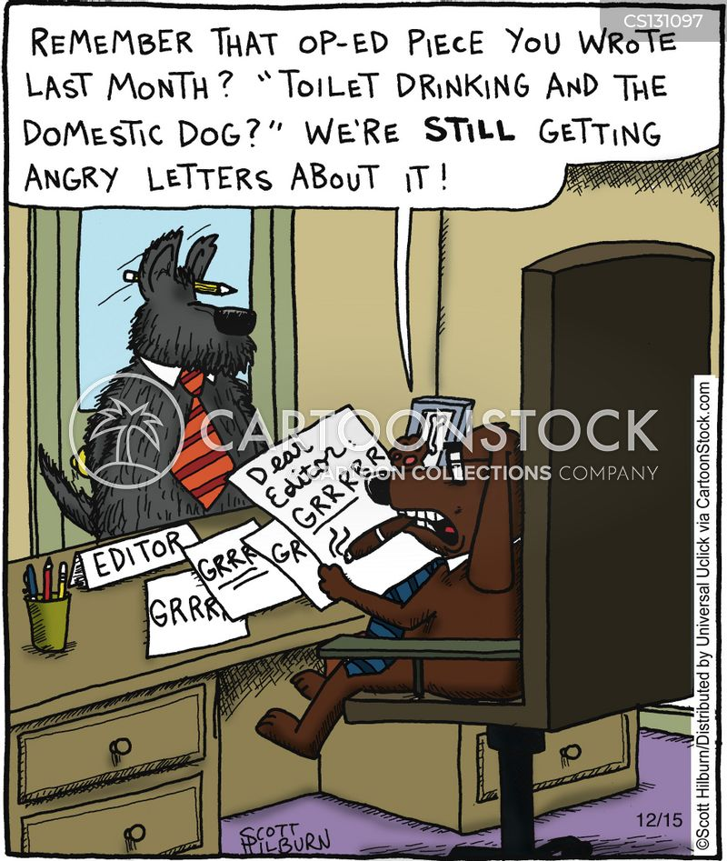 angry letter cartoon