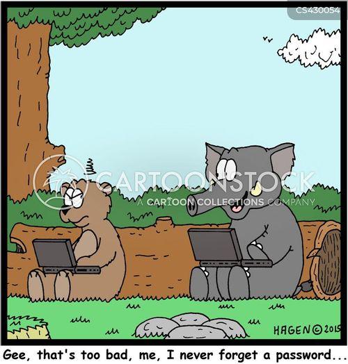 forgotten passwords cartoon