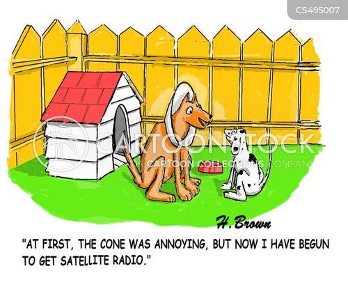 satellite radios cartoon