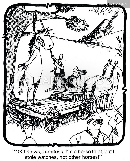 horse thieves cartoon