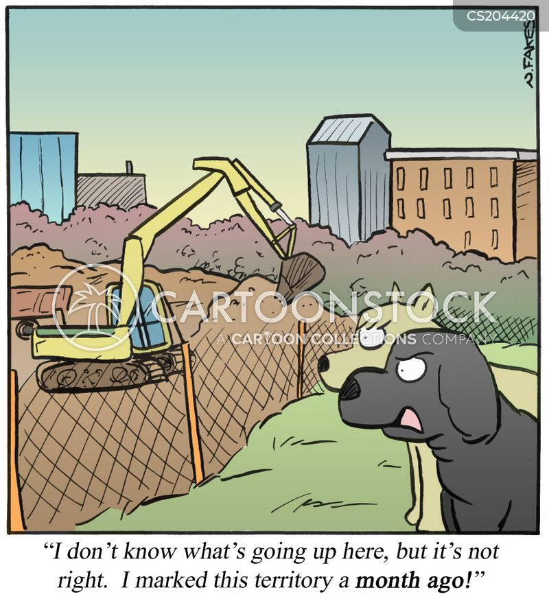 trespassing cartoon