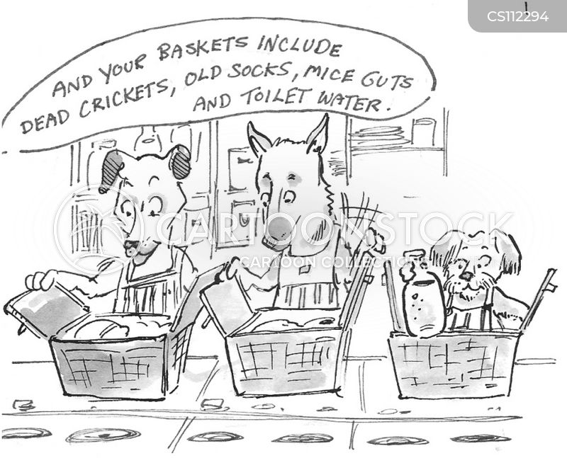 preferred foods cartoon