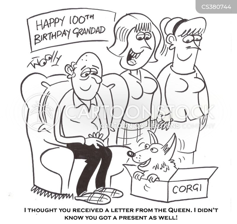 100th birthday cartoon 2 of 9