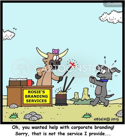 corporate brand cartoon
