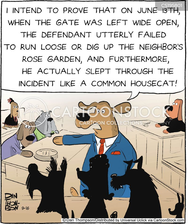 dog law cartoon