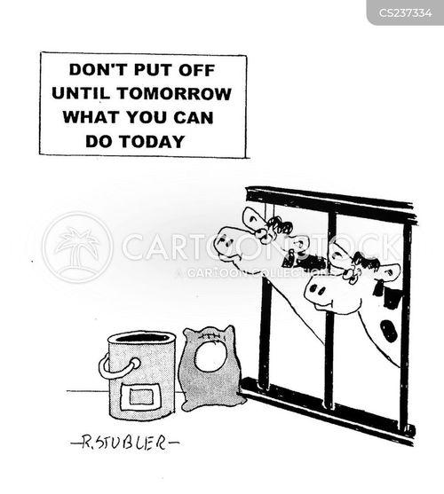 milking shed cartoon