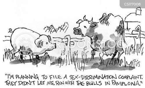 bull running cartoon