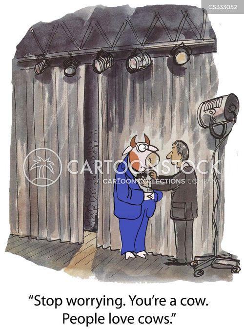 stage fright cartoon