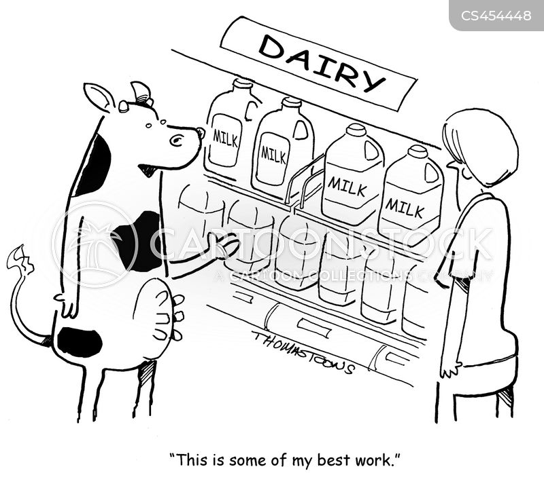 Milking Cow Cartoons And Comics