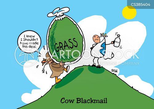 black mailer cartoon