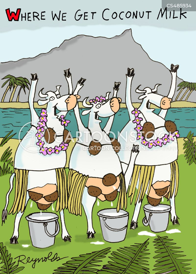 coconut milk cartoon