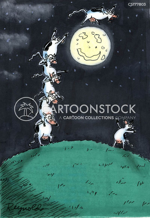 jumping cows cartoon