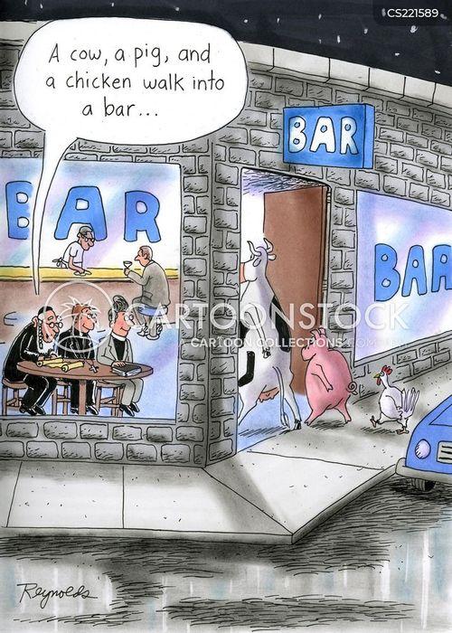 walk into a bar cartoon