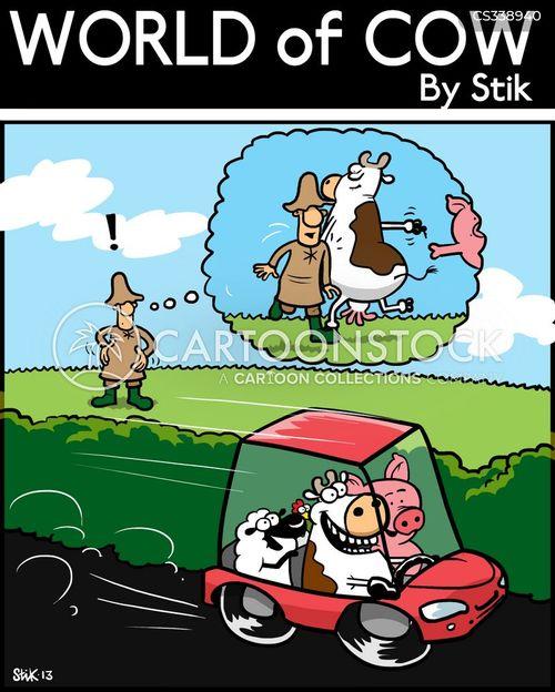 car thefts cartoon