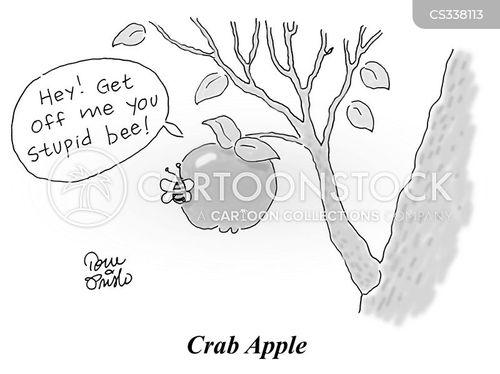 stinging cartoon
