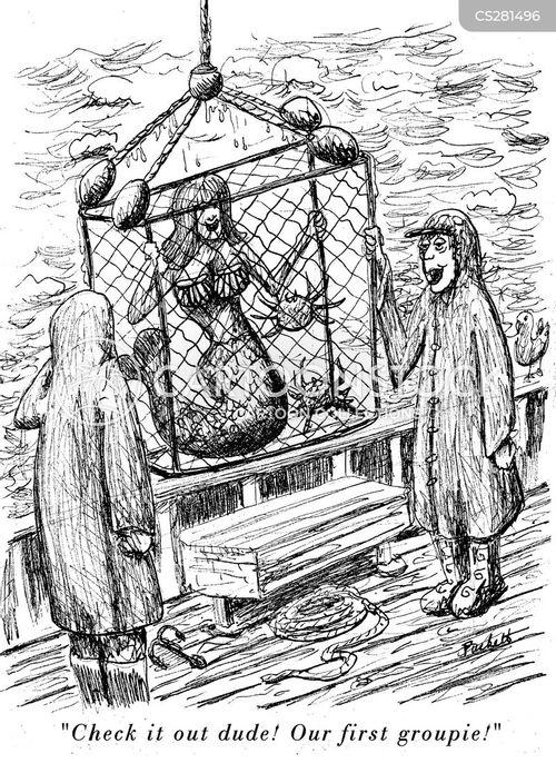 deep sea fishing cartoon