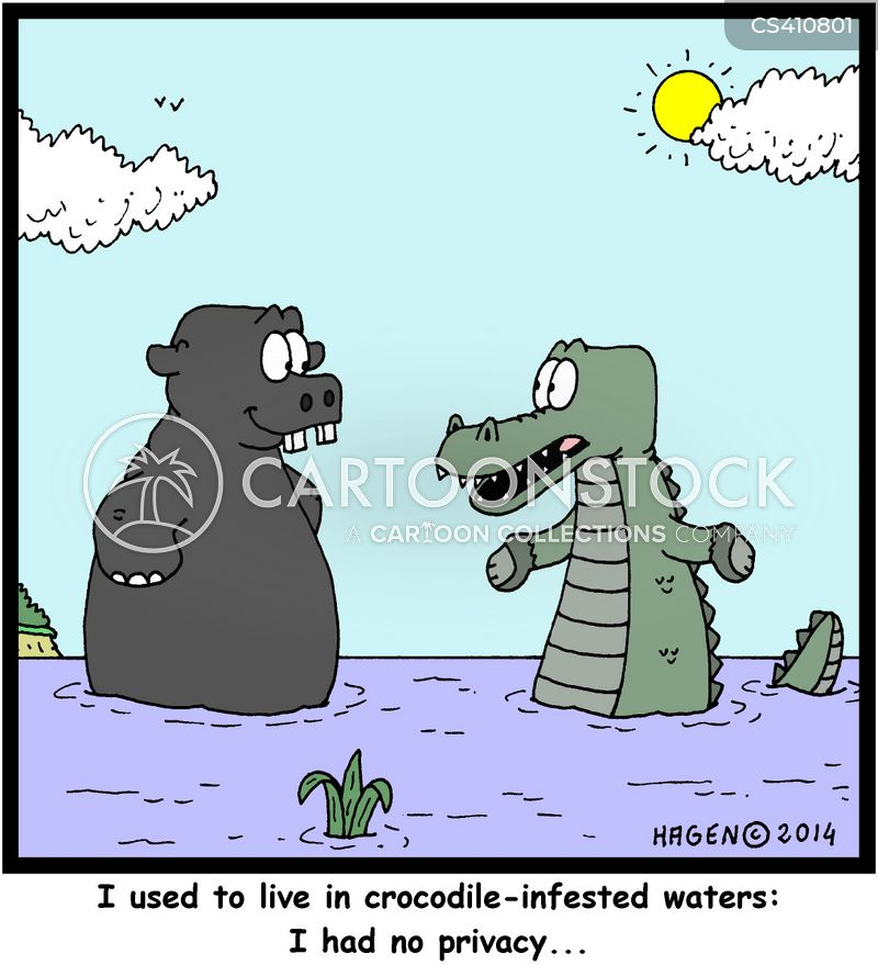 infested waters cartoon