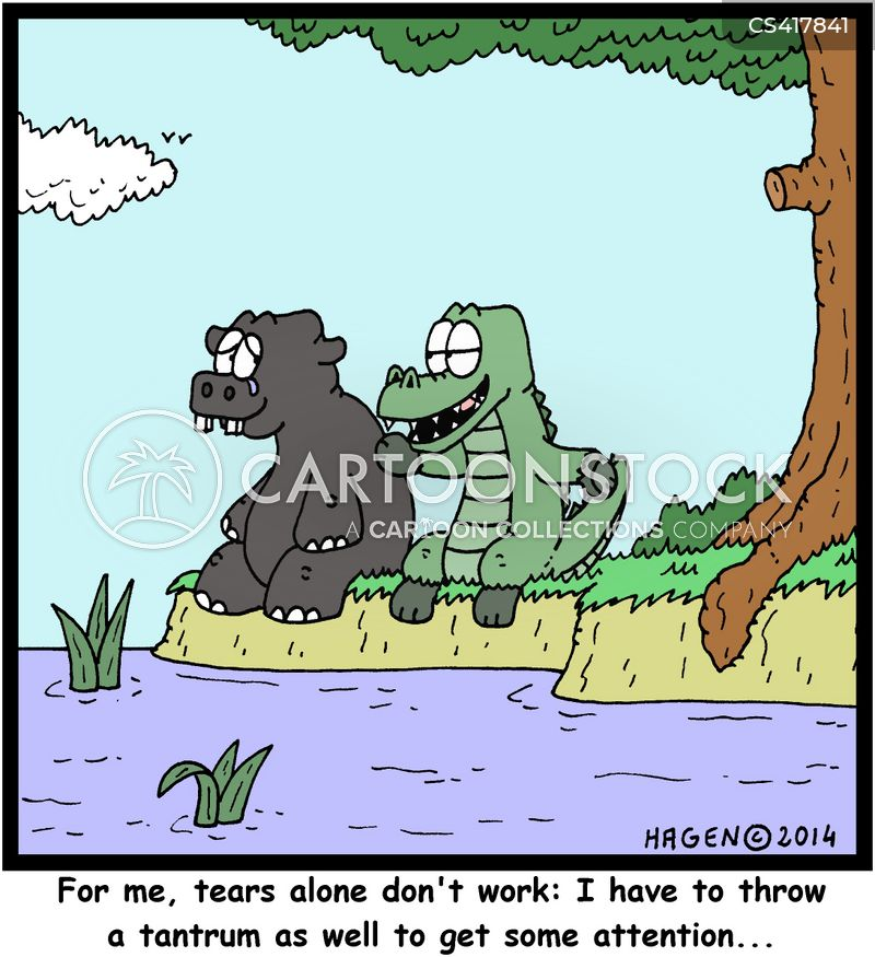 crocodile tears cartoon