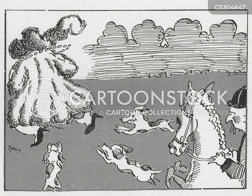 fox hunts cartoon