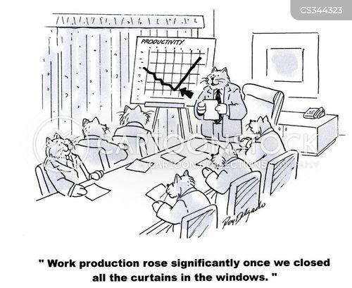 staff productivity cartoon
