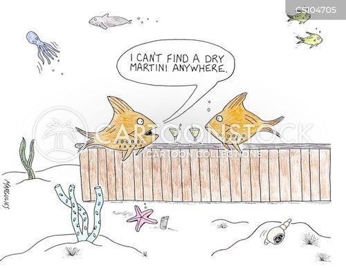 dry martini cartoon