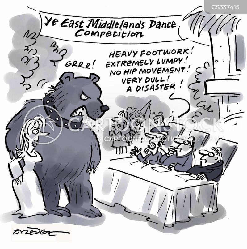 dancing competition cartoon