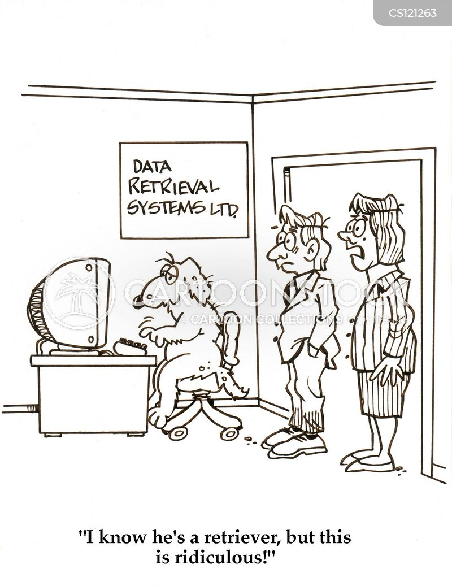 data input cartoon