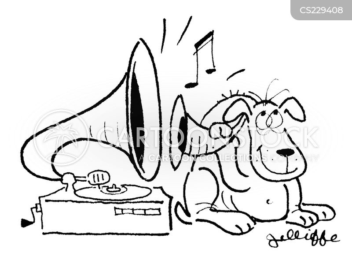 gramaphone cartoon