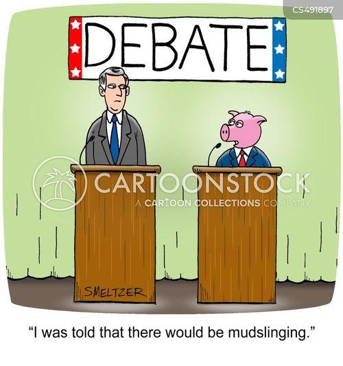 mudslinging cartoon