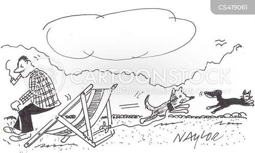 deckchairs cartoon